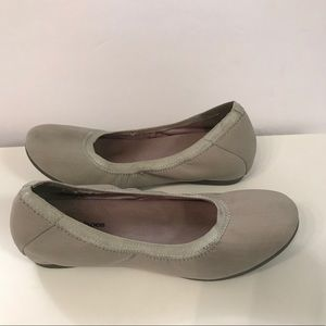 Town Shoes Marker Grey Fabric Flats